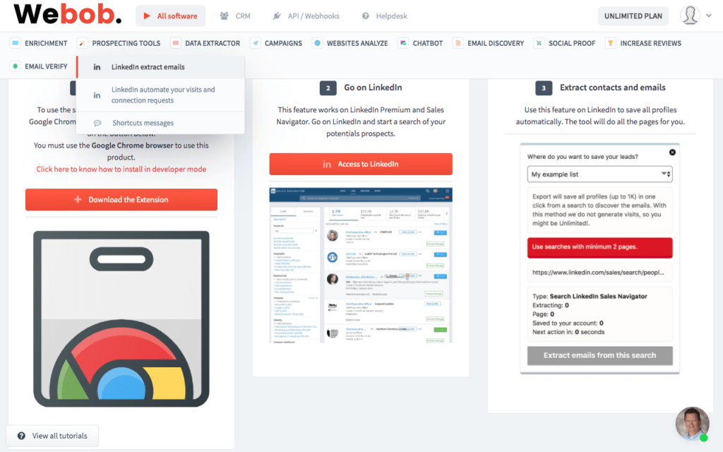 FInd Emails From B2B Social Media